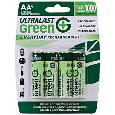Ultralast Ulged4Aa Green Everyday Rechargeables Aa Nimh Batterie