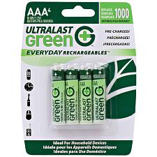 Ultralast Ulged4Aaa Green Everyday Rechargeables Aaa Nimh Batter
