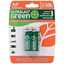Ultralast Ulghp2Aa Green High-Power Rechargeables Aa Nimh Batter