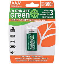 Ultralast Ulghp2Aaa Green High-Power Rechargeables Aaa Nimh Batt