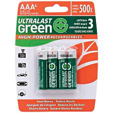 Ultralast Ulghp4Aaa Green High-Power Rechargeables Aaa Nimh Batt