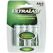 Ultralast Uln4Aasl Uln4Aasl Aa Rechargeable Nicd Batteries For S