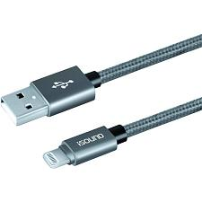I.Sound Isound-5934 Heavy-Duty Braided Charge & Sync Usb Cable With Lightning Co