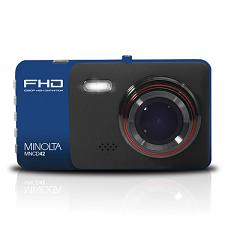 Minolta Mncd42-Bl Mncd42 1080P Full Hd Dash Camera With 4-Inch Lcd Screen (Blue)