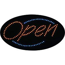 Mitaki-Japan Open Programmed Oval LED Sign ELOOPEN