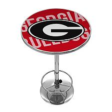 University of Georgia Chrome Pub Table - Wordmark