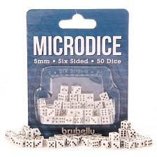 5mm Microdice, White with Black, 50-pack GDIC-3101