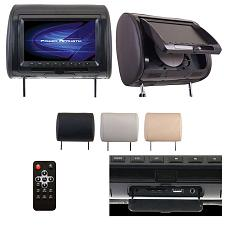 "Power Acoustik 9"" Headrest Monitor 3-Color Skins Lcd/Dvd Usb/Sd"