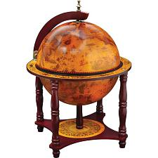 "Kassel 13"" Diameter Globe with 57pc Chess and Checkers Set HHGLB"