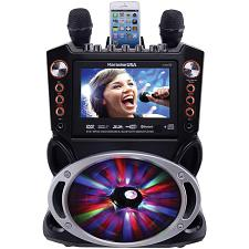 Karaoke Usa Gf846 Bluetooth Karaoke Machine With Synchronized Leds