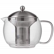 Chef's Secret 40oz Glass Tea Pot with Stainless Steel Infus