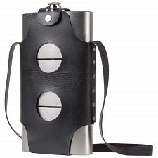 3-24OZ Stainless Steel Flasks W/PU Pouch-KTFLK72