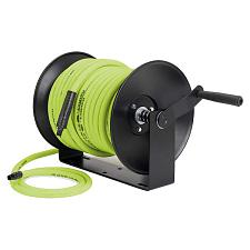 "Flexzilla Manual Air Hose Reel Open Face Fixed Heavy-Duty 3/8"" X 100'"