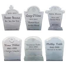 Tombstone Yard Signs, 6-pack MPAR-731