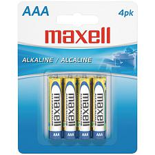 Maxell 723865 - Lr034Bp Alkaline Batteries (Aaa; 4 Pk; Carded)