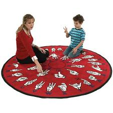 Hands That Teach Educational Sign Language Floor Rug FE152-85A
