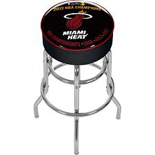 Miami Heat 2013 NBA Champions Padded Swivel Bar Stool