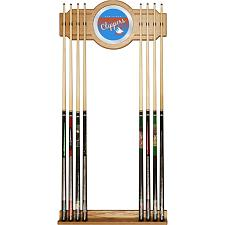 San Diego Clippers Hardwood Classics NBA Cue Rack w/Mirror
