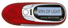 Naxa Red Mp3 Player With 4Gb Built In Flash Memory Lcd Display