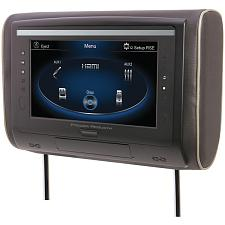 "Power Acoustik Hdvd-94 9"" Lcd Universal Headrest With Ir & Fm Tr"