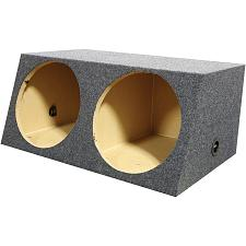 "Qpower (2) 12"" Heavy Duty Angled Woofer Box - 1"" Mdf Construcito"