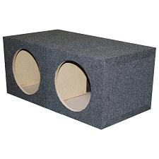 "Empty Woofer Box (2)12"" Qpower Square Style;  Mspq12E"
