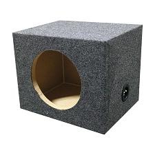 "Empty Woofer Box 12"" Square Qpower"