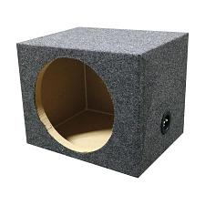 "Empty Woofer Box 15"" Square Qpower"