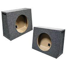 "Tw10S  Empty Split Woofer Box; 10"" Angle; Qpower Mounts Behind"