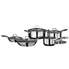 Starfrit 034611-001-0000 Stainless Steel Non-Stick 10-Piece Cookware Set With St