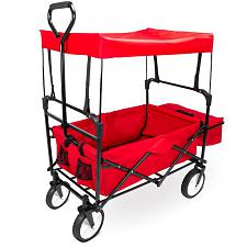 Collapsible Utility Wagon with Canopy, Red SWAG-101