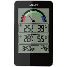 Taylor 1732 Indoor Digital Comfort Level Station With Hydrometer