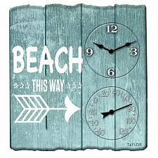 Taylor Precision Products 92685T 14-Inch X 14-Inch Beach This Wa