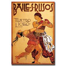 Bailes Rusos Teatro Liceo-Gallery Wrapped 18x24 Canvas Art