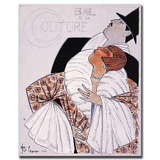 Bal de la Couture by Georges Lepape-Gallery Wrapped 18x24