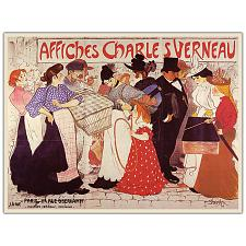 Affiches Charles Verneau by Steinlen-Framed 35x47 Canvas Art