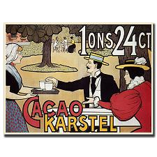 Cacao Karstel-Gallery Wrapped 24x18 Canvas Art