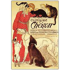 Clinique Cheron by Theophile A. Steinlen-18x24 Canvas