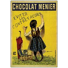 Chocolate Menier by Firmin Boisset-Framed 24 x 32 Canvas Art