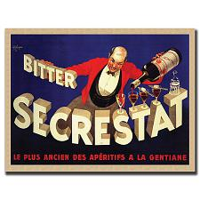Bitter Secrestat by Robert Wolfe-Framed 35x47 Canvas Art