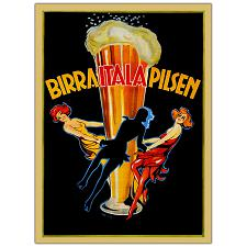 Birra Itala Pilsen-Framed 35x47 Canvas Art