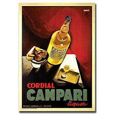 Cordial Campari Liquor-Gallery Wrapped 18x24 Canvas Art