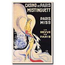 Casino de Paris Mistinguett by Louis Gaudin-Framed 18x24
