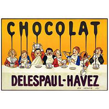 Chocolate Delespaul Havez-Framed 32x47 Canvas Art