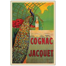 Cognac Jacquet by Camille Bouchet-Framed 35x47 Canvas Art