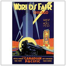 Chicago World's Fair by Norman Fraser-Framed 24x32 Canvas Ar
