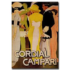 Cordial Campari-Gallery Wrapped 35x47 Canvas Art