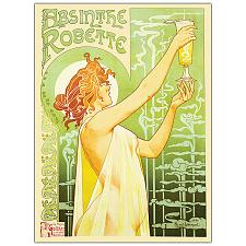 Absinthe Robette by Privat Livemont- 18x24 Canvas Art