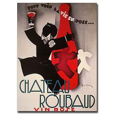 Chateau Roubard-Gallery Wrapped 24x32 Canvas Art