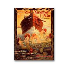 Cia Navigation-Gallery Wrapped 18x24 Canvas Art